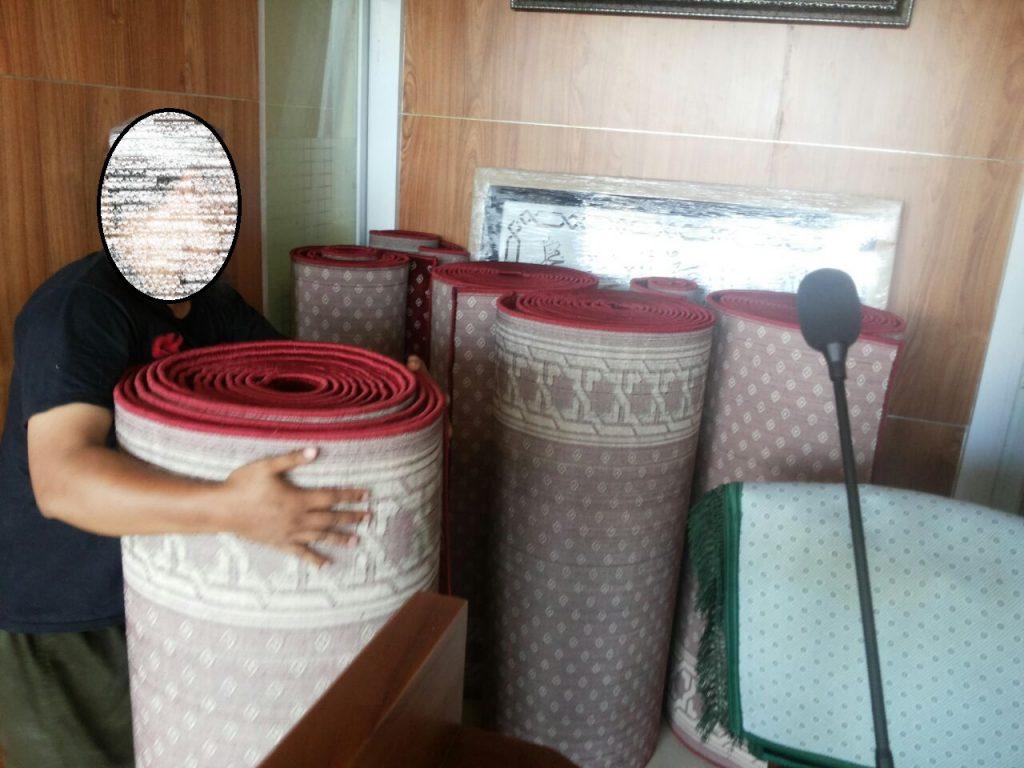 hasil pemasangan karpet masjid di bandung